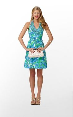 "Prep le must: Lilly Pulitzer sundresses like this one, ""Lillian Dress."""