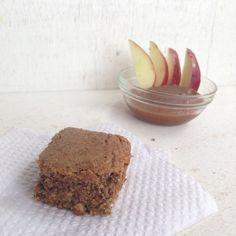 Blondies de manzana y canela, Gastroglam Blog.