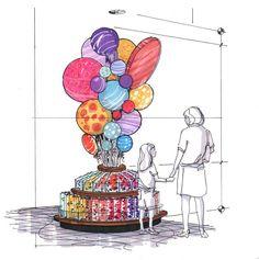 Fixture design & visual merchandising by todd rowland, via behance Interior Sketch, Shop Interior Design, Retail Design, Store Design, Window Design, Wall Design, Window Display Retail, Display Wall, Retail Displays