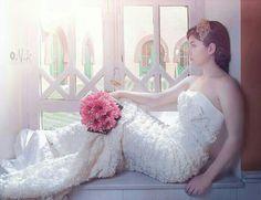 Novia floral romantica