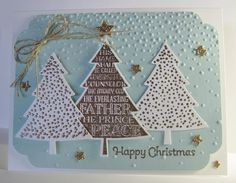 Three Happy Christmas Trees Card by Barb Mann - Cards and Paper Crafts at… | Perfect Pines, More Merry Wishes