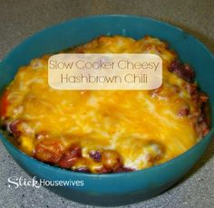 Slow Cooker Cheesy Hashbrown Chili