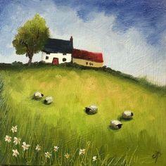 Little Farmhouse  with sheep