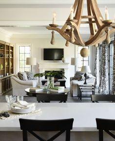 Trend Alert: Re-purposed Wood Chandeliers {wine barrel chandelier}