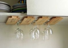 Under Cabinet Wine Glass Rack Holds 21 By Nys71swineglassracks