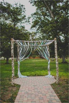 ribboned wedding arch #weddingceremony #diy #weddingchicks http://www.weddingchicks.com/2014/02/12/california-ranch-wedding/