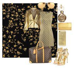 """gold"" by kotyto ❤ liked on Polyvore featuring Versace, Faith Connexion, Diane Von Furstenberg, Giuseppe Zanotti, Louis Vuitton, Linda Farrow, Nancy Gonzalez, women's clothing, women and female"