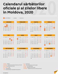 Get Calendar Zile Libere 2020 Blank Monthly Calendar Template, Make A Calendar, January Calendar, Excel Calendar, Calendar Layout, School Calendar, Free Printable Calendar, Yearly Calendar, Calendar Design