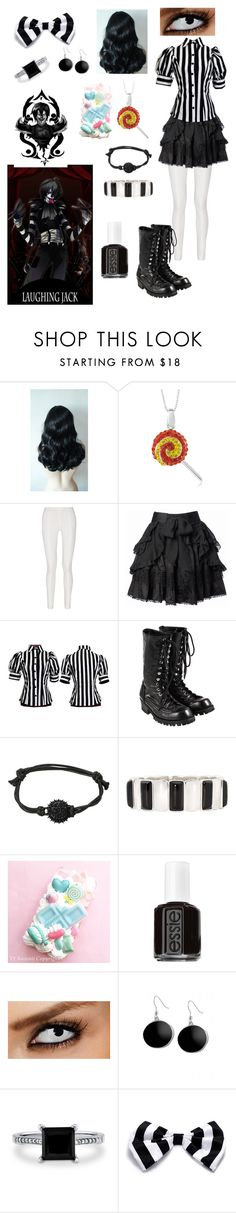 """Creepypasta: Daughter of Laughing Jack"" by ender1027 ❤ liked on Polyvore featuring Bettie Page, Donna Karan, Comme des Garçons, Liz Claiborne, Essie, Karen Kane and BERRICLE"