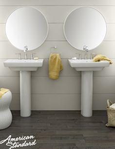 American Standard Boulevard Pedestal Combo Bathroom Sink In White At The  Home Depot   Mobile