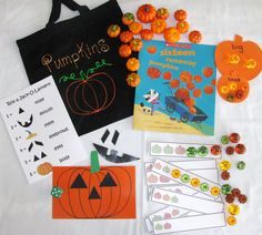 Pumpkins literacy bag