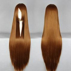 """RoyalStyle® 32""""80cm Long Hair Cosplay wigs Women's Long Straight Wig Hair(Brown) RoyalStyle http://www.amazon.com/dp/B00MMK0PIS/ref=cm_sw_r_pi_dp_i86rvb0J7BNWB"""