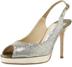 The most popular shoe among our brides: Jimmy Choo Nova Slingbacks