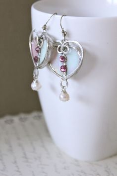 One of a kind hand crafted earrings by Mimi & Moi $125