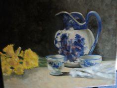 Antique on canvas. Oil On Canvas, Paintings, Antiques, Blue, Home Decor, Antiquities, Antique, Decoration Home, Paint