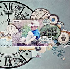 'This Special Moment' layout by Anna Zaprzelska using Kaisercraft 'Time Machine' Speciality Papers ~ Wendy Schultz ~ Scrapbook Pages 3