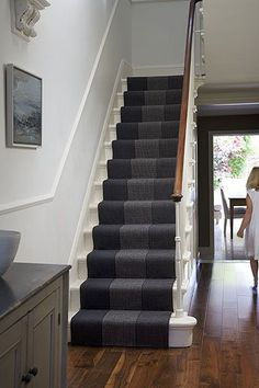 New Staircase Design Ideas Carpet Staircase, New Staircase, Staircase Makeover, Staircase Design, Staircase Ideas, Staircases, Hall Carpet, Hallway Ideas, Style At Home