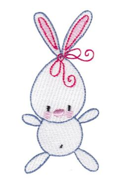 Free Embroidery Design: Little Bunny