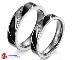 2pcs Free Engraving couple wedding rings Courtship ring his and her promise ring