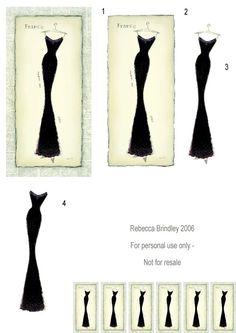 Black Dress decoupage 3d sheet