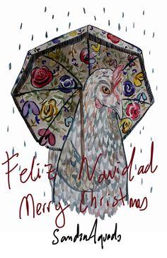 Merry Christmas! Hen Autumn by Sandra Aguado