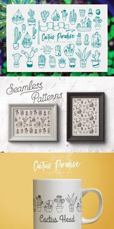 Free Cactus Paradise Vector Set by CreativeVeila