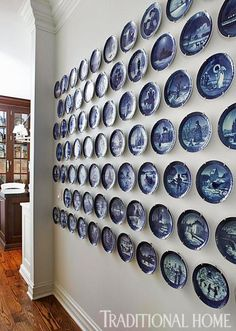 Royal Copenhagen Christmas plates. Boy, I could almost fill a wall like this if only I had a spare wall!