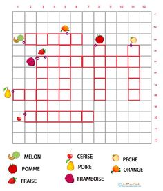 les fruits en jeu French For Beginners, French Food, Pain, Crossword, Worksheets, School Ideas, Nutrition, French People, French Tips