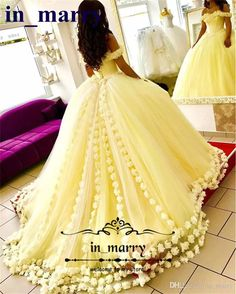 2017 Yellow Ball Gown Quinceanera Dresses with Hand Made Flowers Off Shoulder Sweet 16 Plus Size Princess Tulle Cheap Masquerade Prom Gowns 2017 Quinceanera Dresses Ball Gown Quinceanera Dresses 3D Floral Prom Dresses Online with $259.43/Piece on In_marry's Store | DHgate.com