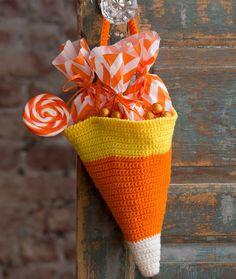 Candy Corn Bag Free Crochet Pattern in Red Heart Yarns