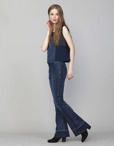 Jeans crop boot cut