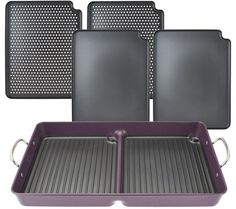 CooksEssentials 7-Piece BBQ Grill Pan with Removable Nonstick Plates