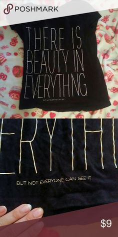 MNG There is beauty in everything  but not everyone can see it black t shirt MNG jeans Tops Tees - Short Sleeve