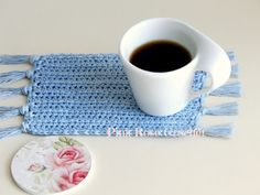 PINK ROSE CROCHET: Centrinho Tapete Mini Mat Coaster