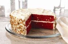 Red Velvet Cake with Black Walnuts