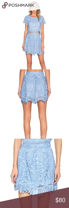 "New Lovers and Friends Crystal Blue Mai Tai Skirt New Lovers+Friends Mai Tai skirt. Size XS. waist: 24"" around Length: 16"" Lovers + Friends Skirts Mini"