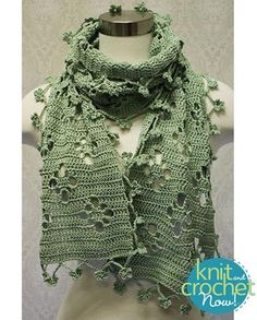 Free Filet Scarf pattern download Design by Lena Skvagerson Featured in Season 6, episode 6, of Knit and Crochet Now! TV.