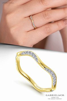 14K Yellow Gold Curved Diamond Stackable Ring LR50887Y45JJ 14K Rose Gold Curved Diamond Stackable Ring LR50887K45JJ 14K White Gold Curved Diamond Stackable Ring LR50887W45JJ #FineJewelry#FashionJewelry#UniqueJewelry#GiftIdeas #DiamondJewelry#gabrieljewelry#UniqueGifts #Jewelry#Design#HandcraftedJewelry#Elegance #LadiesRing#FashionLadiesRing#GoldRing #CurvedDiamondStackableRing #YellowGoldRing#RoseGoldFashionRing #Rings#FashionRings#UniqueRings #WhiteStackable#DiamondStackable#StackableRings Yellow Gold Rings, White Gold, Rose Gold, Anniversary Bands, Metal Necklaces, Stackable Rings, Birthstone Jewelry, Wedding Men, Jewelry Branding