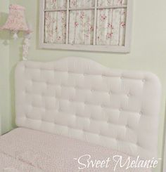 DIY:   How to make a tufted headboard.