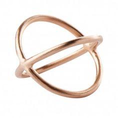 Pernille Corydon, Crossed Ring, Rosa Forgyldt