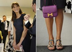 Carla Bruni Hits Fashion Show In Leather Pants, Because Coolest Former First Lady Ever (PHOTOS)