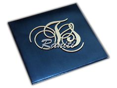 Booklet invitation with laser cut initials... completely customizable!