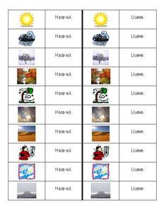 Tiempo (Weather in Spanish) Dominoes