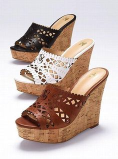 VS Collection Laser-cut Wedge Sandal