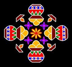 Kolam means colourful rangoli, its make with many different colours. In-front of your house with these Pongal kolam designs during the festival 2020 and the joy of celebration. Diya Designs, Rangoli Designs Flower, Rangoli Border Designs, Rangoli Patterns, Rangoli Designs Diwali, Rangoli Designs With Dots, Rangoli Designs Images, Rangoli With Dots, Beautiful Rangoli Designs