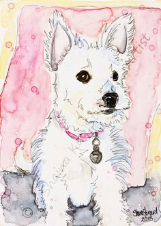 CUSTOM WATERCOLOR PAINTINGS / PORTRAITS / PETS / WESTIES by Shaina Kay Stinard - Artist. www.shainastinardartist.com Custom paintings of people, pets and places from your photos.