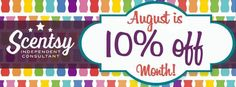 #Facebook banner for the #August #Scentsy sale ~ https://charneff.scentsy.us