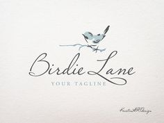 This is a premade logo design with a handdrawn bird, chick and elegant with a beautiful moder cursive font.  This premade logo design would be