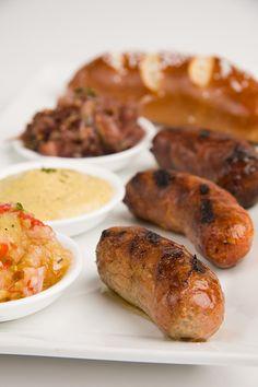 Sausage Trio w/fresh baked pretzel