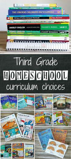 Third Grade Homeschool Curriculum Choices   2017-2018   Math, Language Arts, Reading, Writing, Science, Social Studies, Logic   Calm & Wave